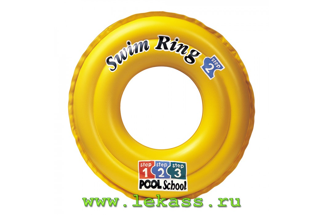 intex 58231 - Надувной круг Deluxe Swim Ring Pool School Step-2