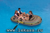 intex 68319 - Надувная лодка Excursion-3 Set (насос + весла) 262х157х42см